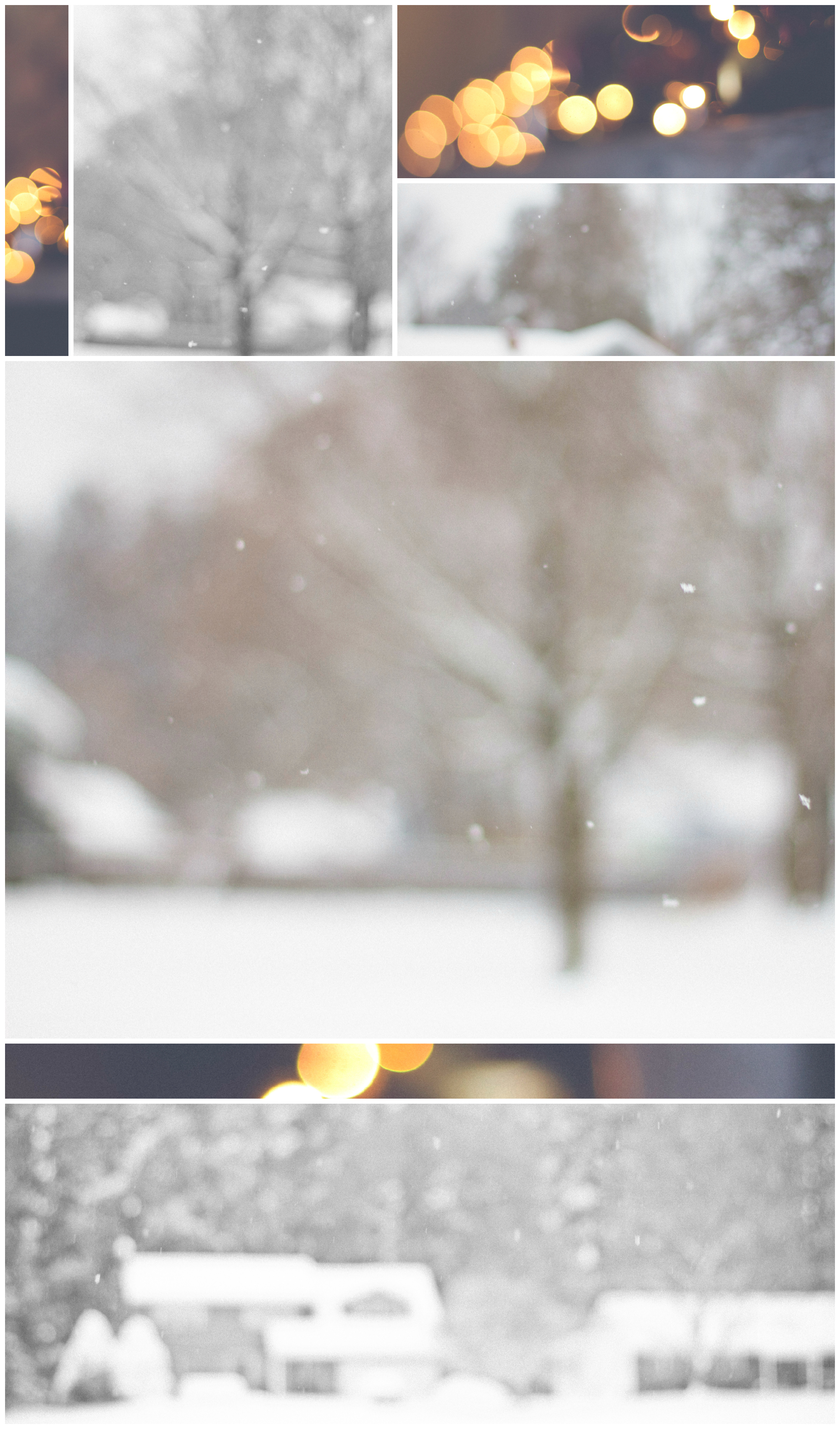 Blurry Christmas Collage