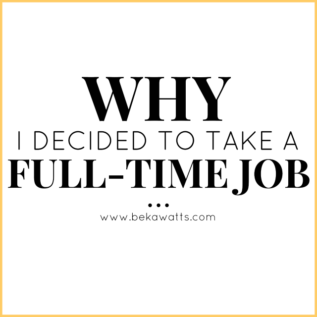 Why Full Time